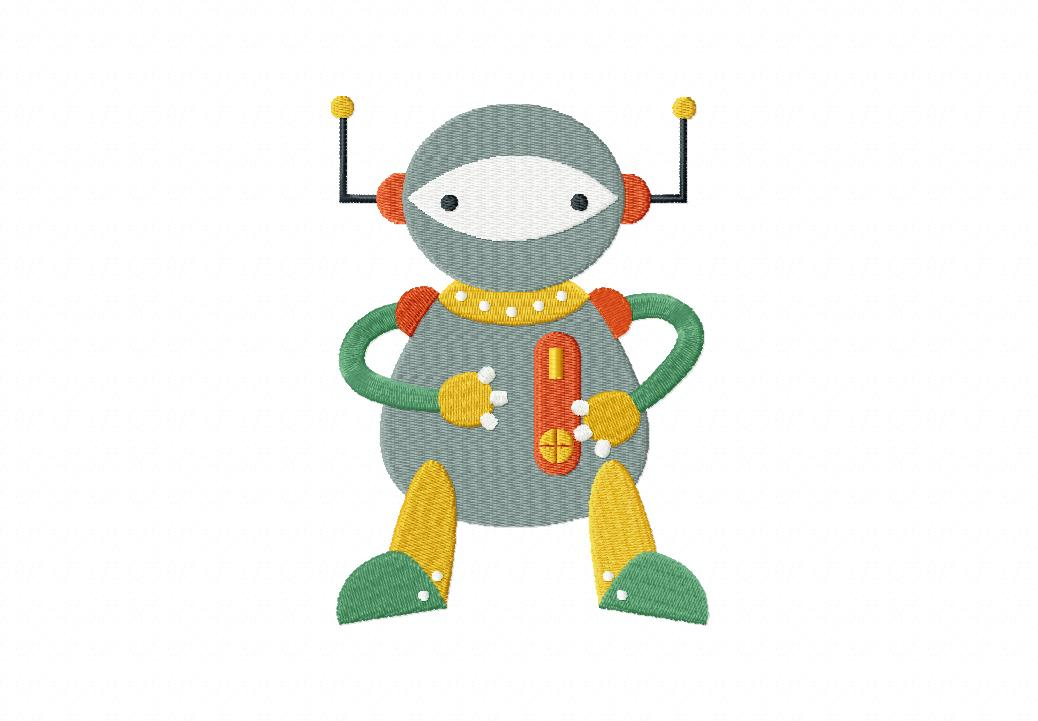 Space robot machine embroidery design daily embroidery for Space embroidery designs