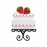 Strawberry Cake Applique 5_5 Inch