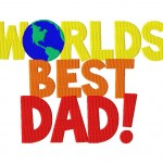 Worlds Best Dad 6X10 Hoop
