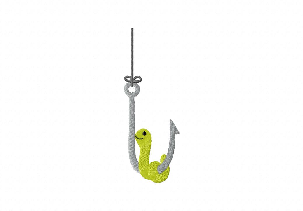 Fishing hook with worm images for Pictures of fishing hooks