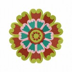 Amazing Floral Element Stitched 5_5 Inch