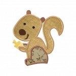 Baby Squirrel Applique 5_5 Inch