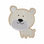 Brown Bear Applique 5_5 Inch
