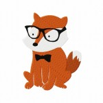 Hipster Fox Stitched 5_5 Inch