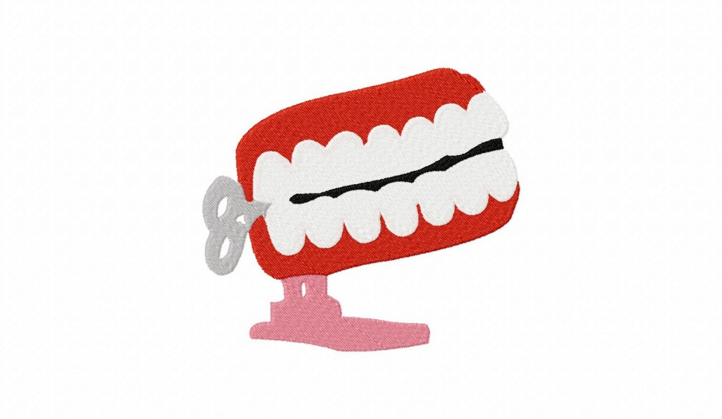 Windup Teeth Machine Embroidery Design Daily Embroidery