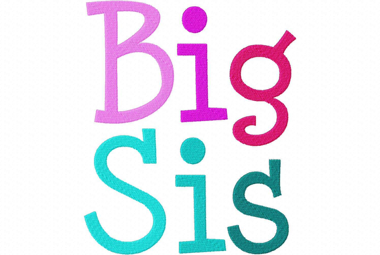 Big sis machine embroidery font set daily