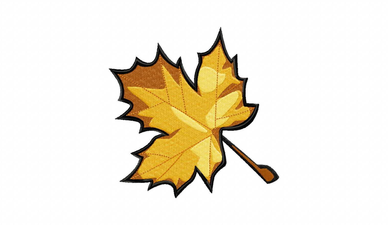 Fall Maple Leaf Machine Embroidery Design  Daily Embroidery