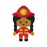 Firefighter Girl Stitched 5_5 Inch
