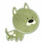 Green Puppy Applique 5_5 Inch