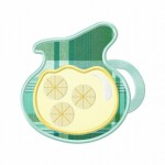 Lemonade Jug Applique 5_5 Inch