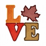 Love Fall Applique 6X10 Hoop