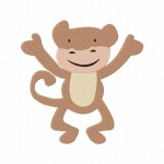 Silly Monkey Stitched 5_5 Inch