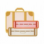 Vacation Luggage Applique 5_5 Inch