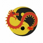 Ying Yang Dragon Stitched 5_5 Inch