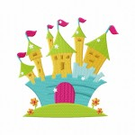 Fairy Castle Stitched 5_5 Inch