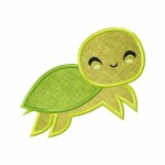 Green Turtle Applique 5_5 Inch