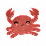 Red Crab Applique 5_5 Inch
