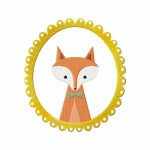 Red Fox Frame Stitched 5_5 Inch
