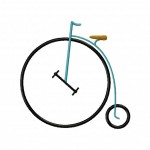 Penny Farthing Stitched 5_5 Inch
