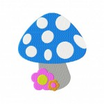 Pretty Little Mushroom Stitched 5_5 Inch