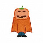 Pumpkin Head Applique 5_5 Inch