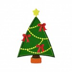 Beribboned Christmas Tree Applique 5_5