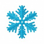 Crystalline Snow Flake 5_5 Inch Inch