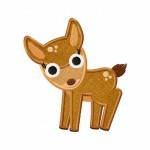 Curious-Curious Fawn Applique 5_5-Inch Inch