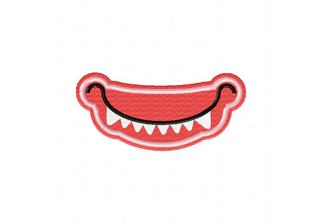 Smiling Monster Mouth Machine Embroidery Design Daily