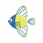 Blue Yellow Fish 5_5 Inch