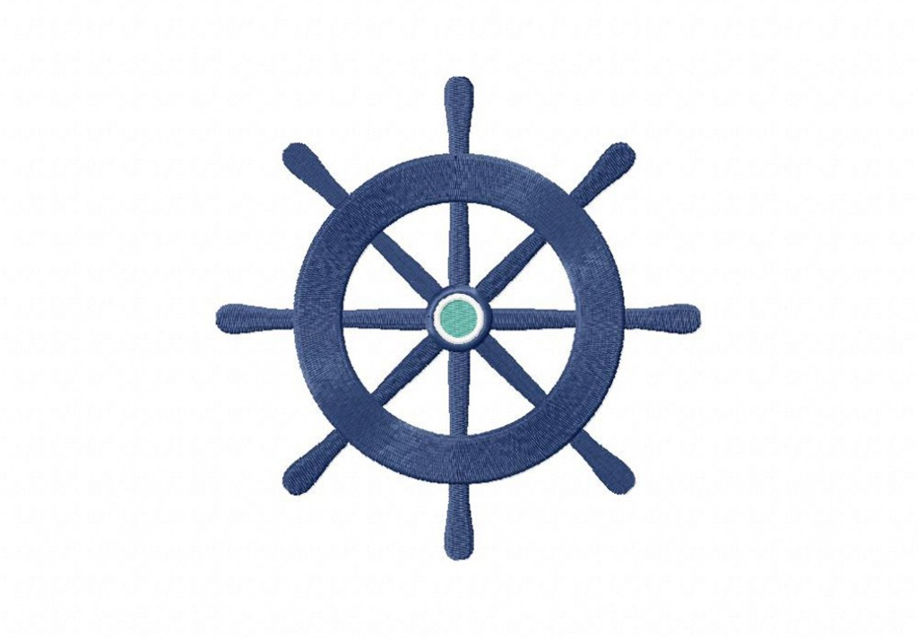 Nautical Wheel Machine Embroidery Design Daily Embroidery