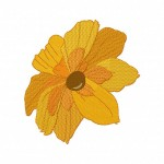 Sunburst Flower Stitched 5_5 Inch