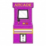 Arcade Cabinet-Applique-5x7
