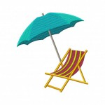 Beach Chair and Umbrella 5_5 Inch