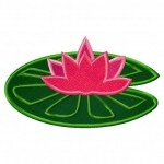 Lotus-on-lilypad-Applique-5x7-Inch-Inch