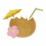 Coconut-Drink-Applique-5x7-Inch
