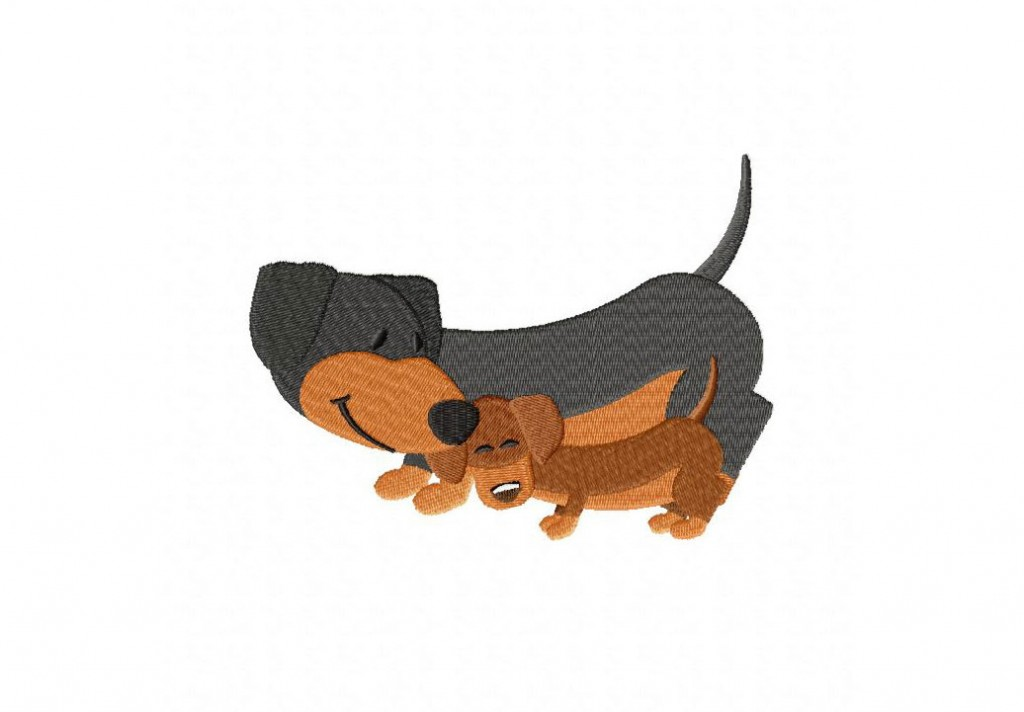 Dachshunds Machine Embroidery Design Daily Embroidery