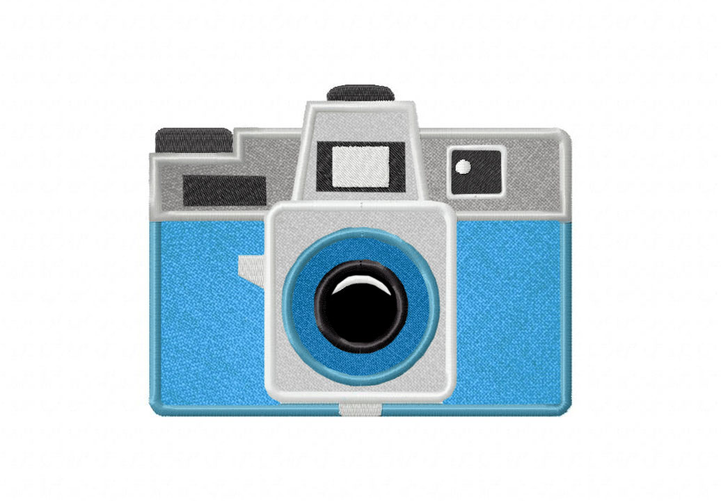 Holga camera includes both applique and stitched u2013 daily embroidery