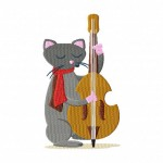 Kitty on Bass 6 Inch