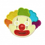 Clown-Mask-Applique-5x7-Inch