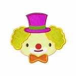 Cute-Clown-Head-Applique-5x7-Inch