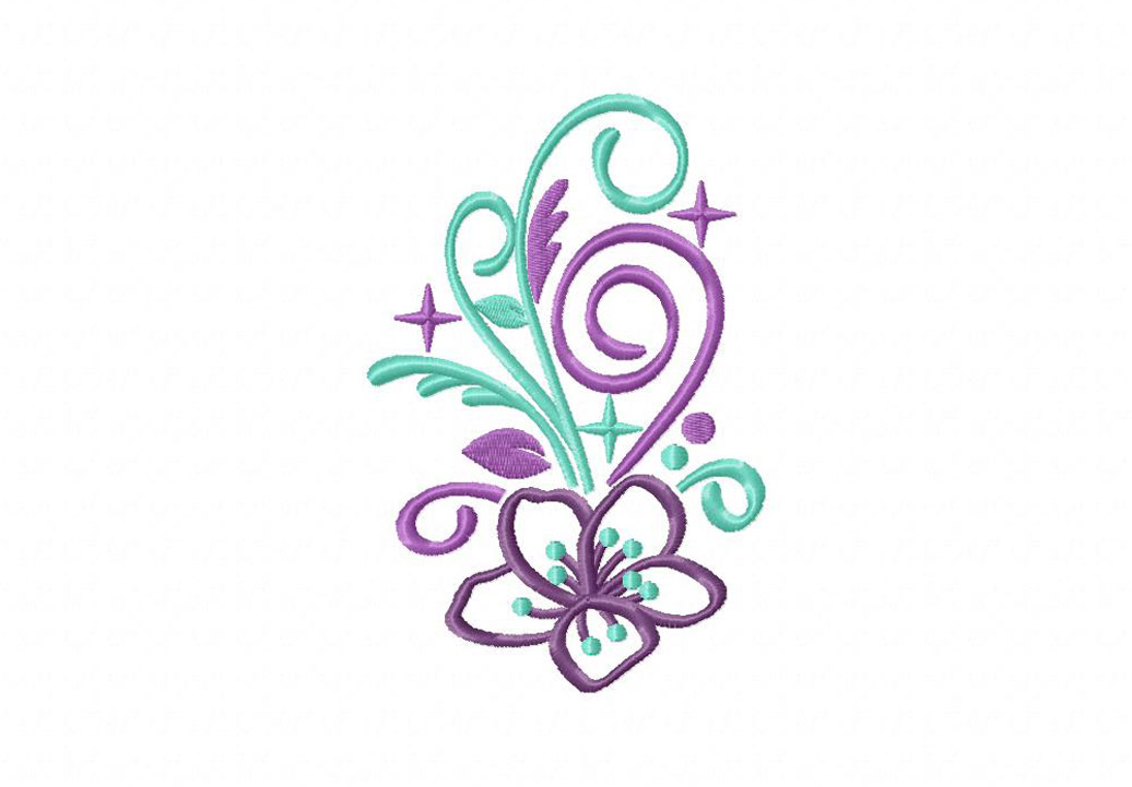 Flower sparkles machine embroidery design daily