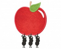Ants-Carrying-Apple-Applique-5x7-Inch