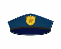 Police-Hat-Applique-5x7-Inch