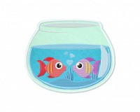 Two-Fish-Bowl-Applique-5x7-Inch