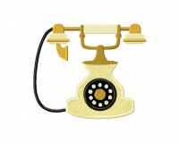 Antique-Phone-Applique-5x7-Inch