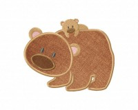 Brown-Bears-Applique-5x7-Inch