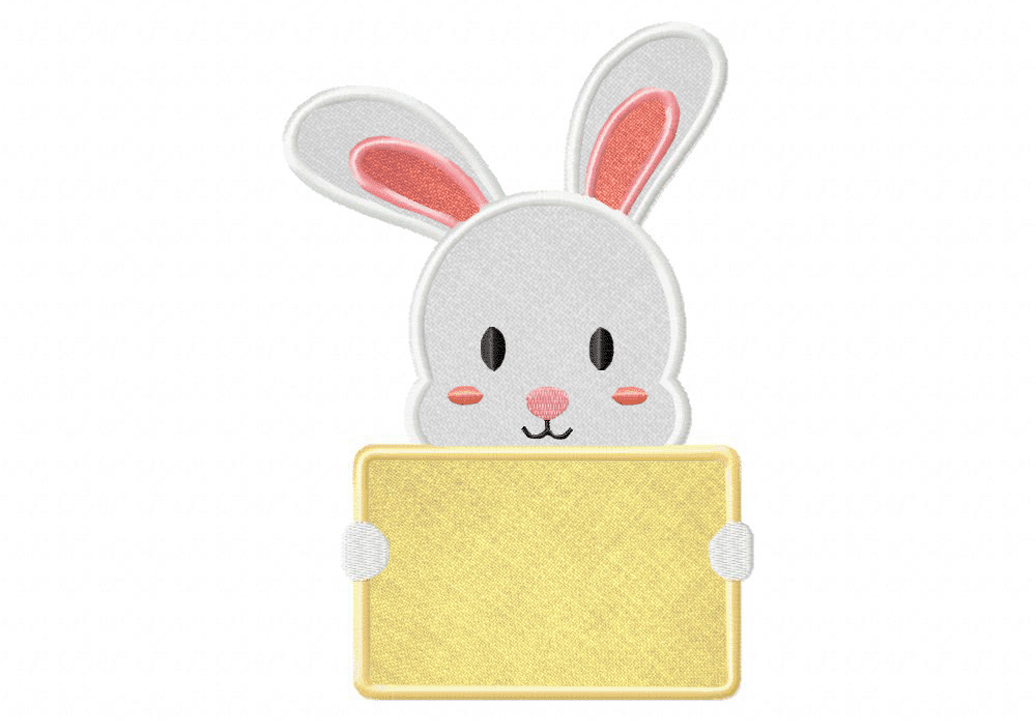 Bunny-Holding-Card-Applique-5x7-Inch-Inch