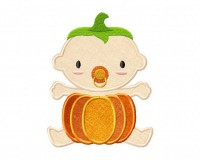 Costume-Girl-Baby-Pumpkin-Applique-5x7