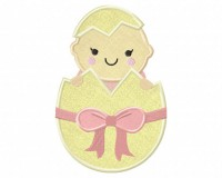 Egg-Baby-Girl-Applique-5x7-Inch-Inch